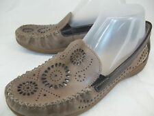 Remonte Dorndorf Womens EU 38 US 8 Tan/Brown Cutout Leather Moccasin Loafers
