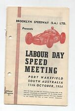 1954 Port Wakefield Programme Racing Touring Sports Motorcycle Program