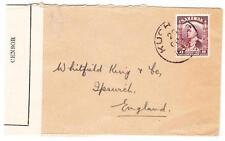 Sarawak SG#112(single frank)-KUCHING 29/OCT/1939-WWII CENSOR