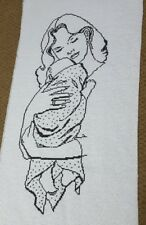 Cross  stitch hand embroidered picture without   frame