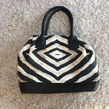 French Connection ladies black/taupe zebra print tote bag, VGC