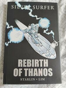 Silver Surfer: Rebirth Of Thanos Marvel Premiere edition hardcover used GC
