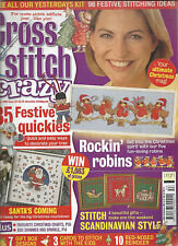 CROSS STITCH CRAZY MAGAZINE # 53 - CHRISTMAS ROBINS - SCANDINAVIAN - HOLLY IVY