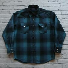 Pendleton Canyon Wool Western Shirt Size L Plaid Westernwear