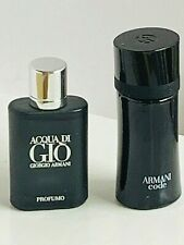 Acqua Di Gio Profumo + Armani CODE  -2 PERFUME MINI splash for Man