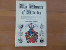 The Elements of Heraldry Vintage Book Coats of Arms Line Drawings For Pet Rescue