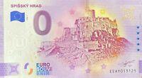 BILLET 0  EURO SPISSKY HRAD  SLOVAQUIE 2020 NUMERO  DIVERS