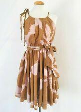 Diane Von Furstenberg 0 Small Naro Printed 100% Silk Halter Dress with ropes
