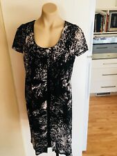 Ladies PHILOSOPHY Dress Black White Size 12 Layered Loose Fit