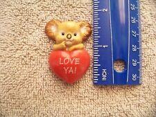 1986 Hallmark Valentines Pin Koala Bear Love Ya! Brooch/Pin