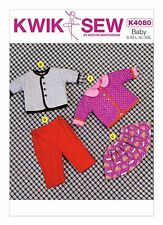 Kwik Sew SEWING PATTERN K4080 Baby Jacket,Skirt & Pants 0-24m