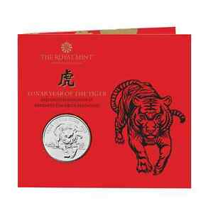 New** 2022 Lunar Year of the Tiger Brilliant Uncirculated £5 coin - Five Pound