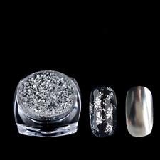 Glitter Powder Gold Silver Spangle Nail Art Dust Acrylic UV Gel Sticker Tips DIY