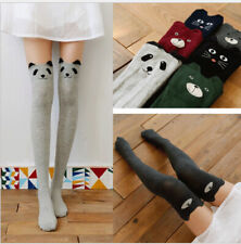 Cute bear cat girl student cotton knit Over Knee thigh highs socks stockings