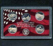 "2006 'S' USA Proof Silver ""State Quarter Set"" 5 Coins Encased"