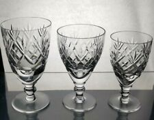 More details for royal doulton crystal georgian cut wine glass 3 sizes 5 1/4