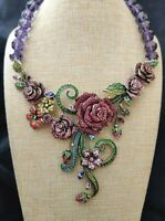 Heidi Daus Blooming Love Beaded Crystal Drop Necklace -  Beyond Beautiful!!!