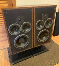Vintage Polk Audio Monitor 10 Stereo Speakers w/ Stands