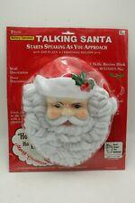Musical Lights Santa Claus Face Telco Creations 1995
