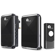 1byone Easy Chime Wireless Doorbell Door Chime Kit, 1 Plug-in Receiver & 1 & 1