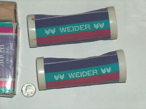 VTG Joe Weider 1 Pair 2 lb Each Hand Strap Dumbbells Curl Work Out Weights w Box