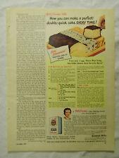 1949 Magazine Ad Page Gold Medal Flour Cake Recipe Johnson's Glo-Coat Floor Wax