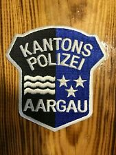 SWISS SWITZERLAND PATCH POLICE POLIZEI ( KANTONS AARGAU )  - ORIGINAL!