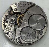 Waltham Grade 310 Pocket Watch Movement 3/0s 1900 Model parts Openface F3330