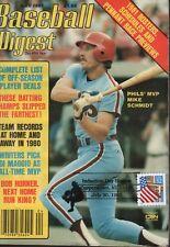 Baseball Digest April 1981 Mike Schmidt Bob Horner 101618ame