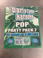 New: Party Tyme Karaoke - Pop Party Pack 7 [64 Contemporary Pop Songs] 4-Cd Set