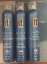 Lot Of 3 It 12-In-One Amazing Hair Spray Shape and Finish Memory Lock 10 oz