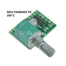 Mini PAM8403 5V 2 Channel USB Power Audio Amplifier Board 3Wx2 Volume