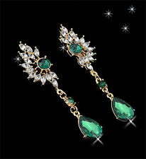 "Thompson luxury ""sabrina"" water drop aretes verde claro oro plated PVP 12,90 €"