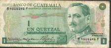 GUATEMALA 1 Quetzal 1973 P59a  VF  B4909345F