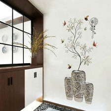 Modern Chinese Vase Flower Butterfly Wall Sticker Decal PVC Home Decor Healthy