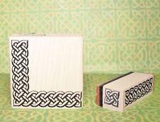 Celtic Knot Rubber Stamp 3D Border Set of 3 * Corner Straight Line and Bullet
