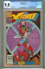 X-FORCE 2 CGC 9.8 NEWSSTAND SECOND DEADPOOL 1991