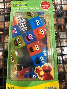SESAME STREET DreamGear Crystal Case And Decal Set For NINTENDO DSi XL
