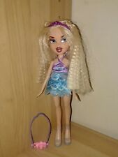 Bratz Cloe Doll With Blonde Crinkled Hair, Blue & Purple Dress, And Accessories!