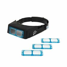 Headband Magnifier Headset - Magnifying Visor with 4 Real Glass Optical Lens ...