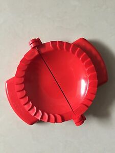 2pcs Quality Dumpling Pastry Curry Puff Mould Maker RED Color