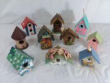 10 decorated miniature birdhouses