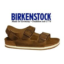 NEW BIRKENSTOCK MILANO STRAPPY SANDALS BROWN LEATHER LADIES GIRLS UK 2.5