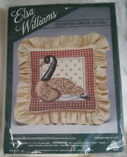 "Elsa Williams Cross Stitch Pillow Kit CANADA GOOSE Michael Leclair 14"" x 14"" SIP"