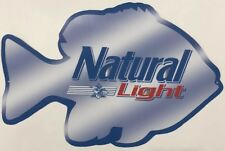 Natural Light Fishing Beer Sign
