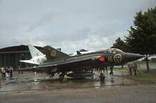 Original 35mm Aircraft Slide Saab Draken 35075 '40' '16' Swedish AF Duxford 1978