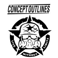 Sticker Decal UV Resistance Military Punishes Off Road Skull  #3 Jeep Star