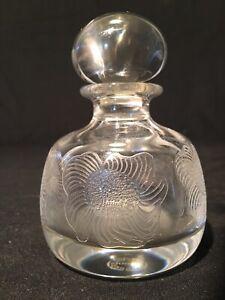 Antique Art Deco Nouveau Saint St Louis France Crystal Perfume Bottle Signed