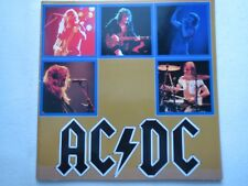 AC/DC JAPAN TOUR 1982 Japon tourprogramm tourbook