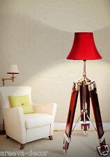 NAUTICAL STYLISH TEAK WOODEN TRIPOD FLOOR LAMP, TRIPOD LAMP STAND'!!